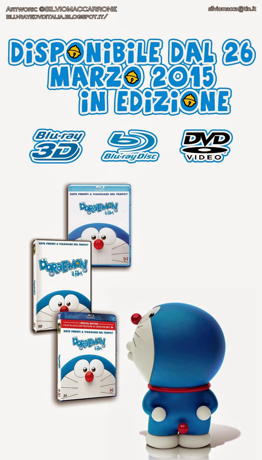 Blu ray dvd italia doraemon il film già disponibile