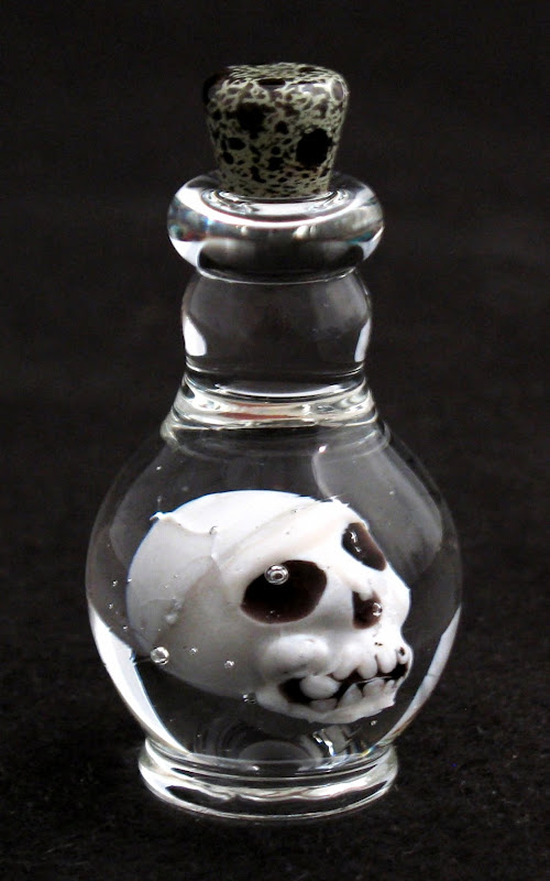 'Poison bottle' with skull