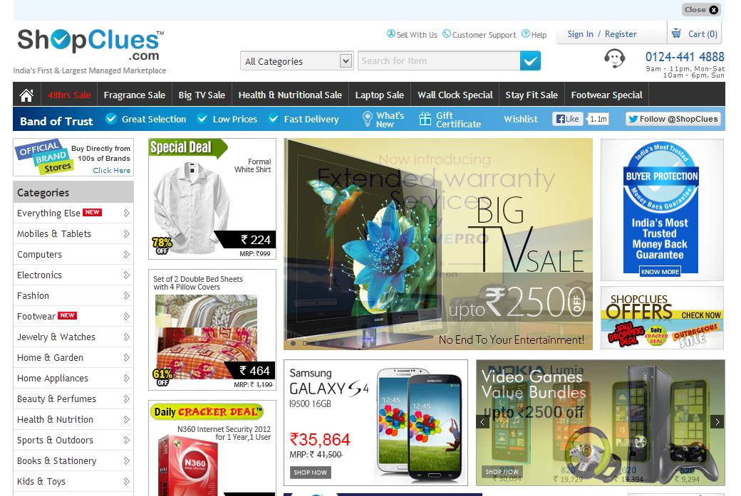 Shopclues online shopping mobile