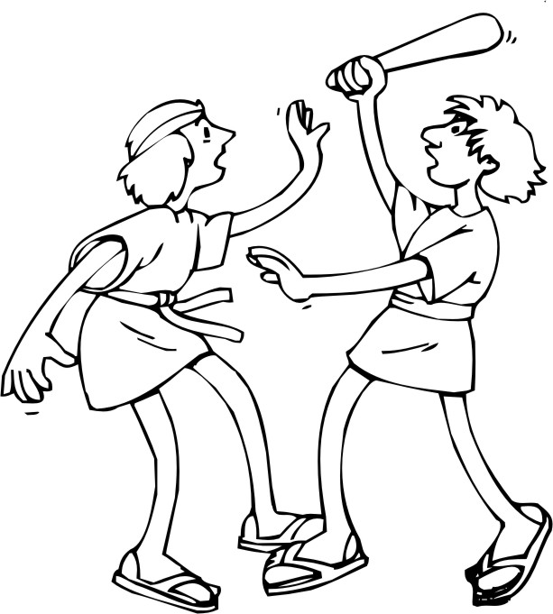 cain and abel coloring pages - photo#13
