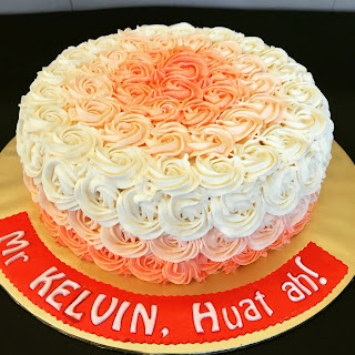Eggless Ombre Cake