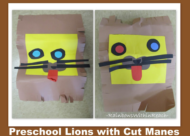 photo of: Zoo art project for preschool, cutting practice for preschool, Head Start Art in zoo animals