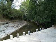 El riu Ges arribant a la Palanca dels Mesclaments