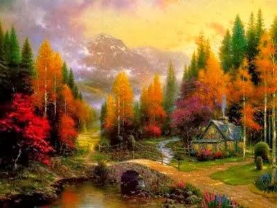 La mia casa, amo l'autunno e i suoi colori...