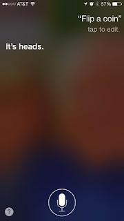 Apple iPhone iOS Siri Flip a Coin - One Cool Tip