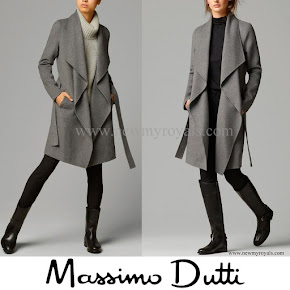 Crown Princess Mary Style Massimo Dutti Grey coat