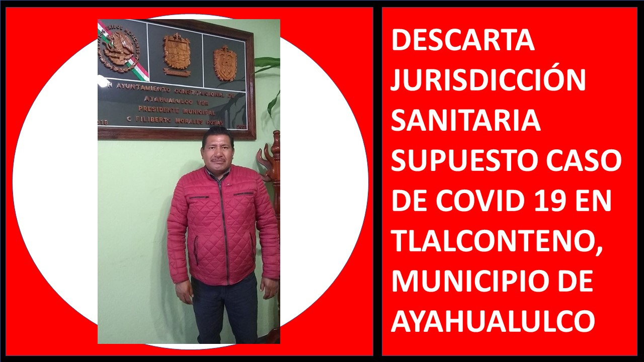 DESCARTA JURISDICCIÓN SANITARIA