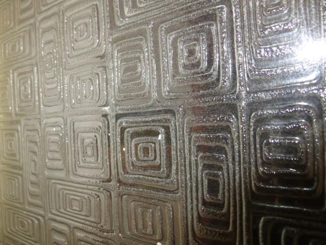Fotografia Macro de Textura de vidro de porta de casa de banho