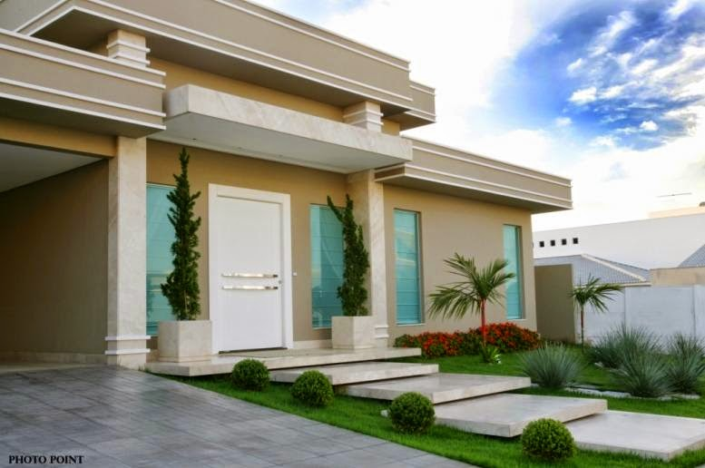 Fachadas de casas com escadas na frente veja entradas - Entradas casas modernas ...