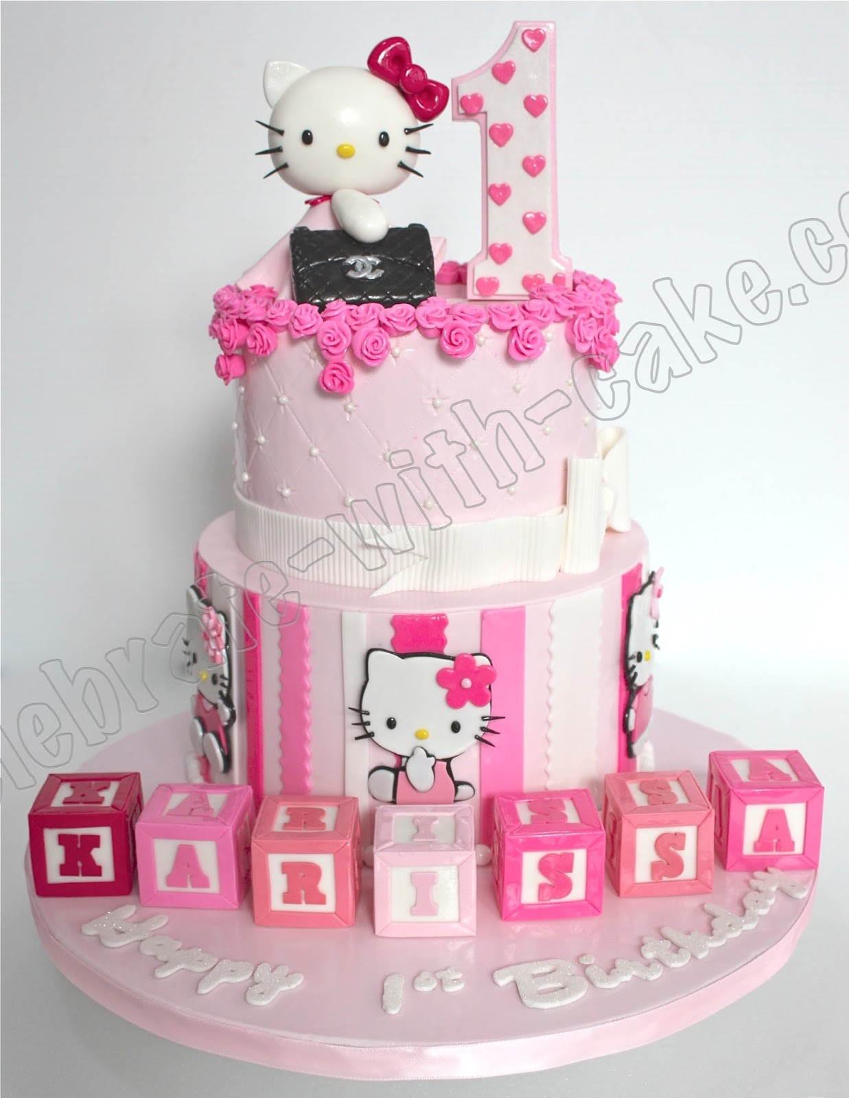 Celebrate with Cake Hello Kitty Chanel Bag Tier Cake