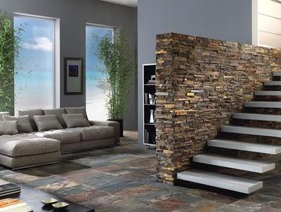Blog arqteturas paredes de pedra for Revestimiento paredes interiores pizarra