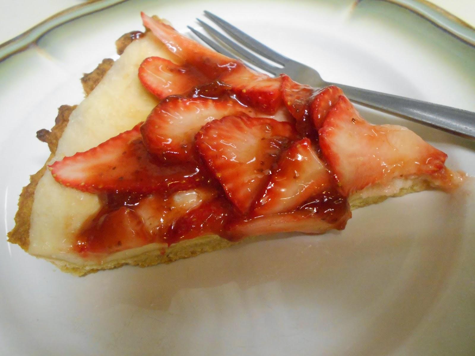 Blessed Vegan Life: Strawberry Cream Cheese Tart