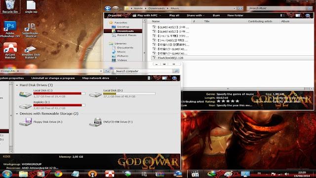 [ Theme Win 7 ] God Of War 2