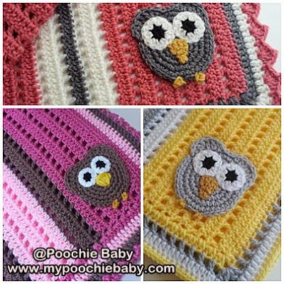 custom order crochet owl blanket