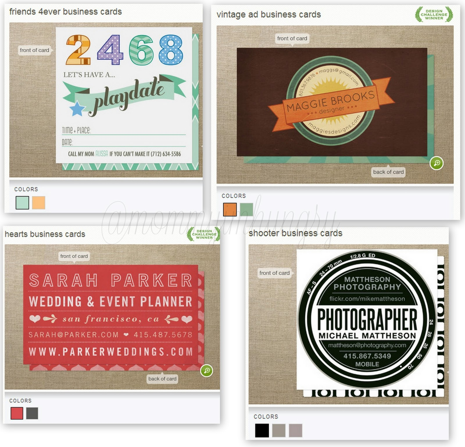 MIH Product Reviews & Giveaways Minted Business Cards