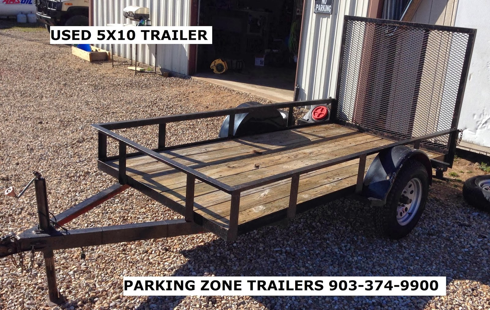 Parking zone 82 used 5x10 utility trailer 625 for 5x10 wood floor trailer