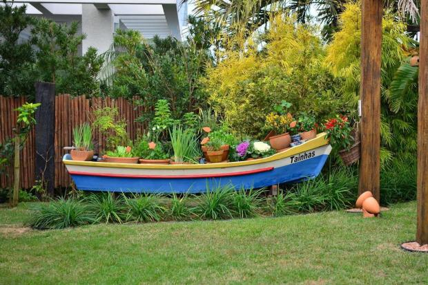 imagens de jardim horta e pomar:Barcos na Decoração – Barraco Chic