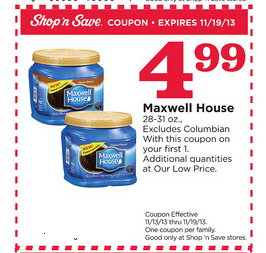 Maxwell house coffee coupons printable 2018