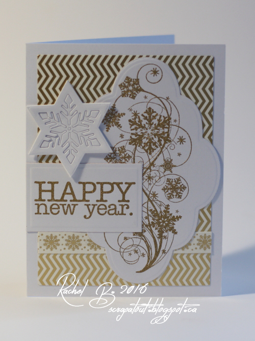 Handmade card, Winter, Impression Obsession, Snowflake, New Year