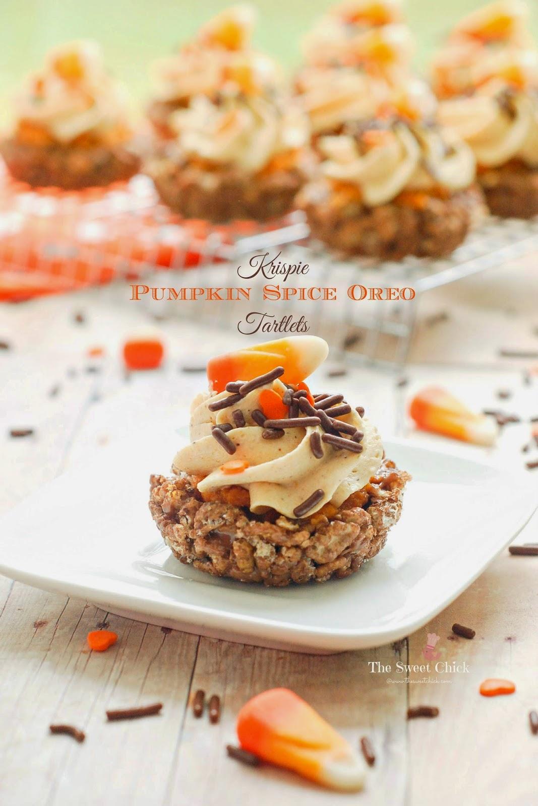 Krispie-Pumpkin-Spice-Oreo-Tartlets by The Sweet Chick