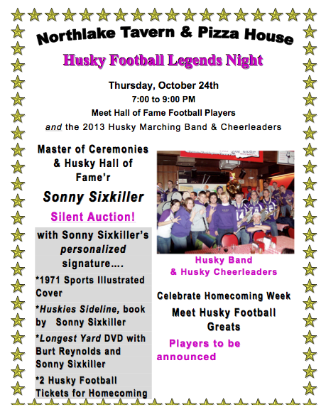 Download Husky Legends Event Flier