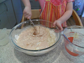 Gently mix in the apple banana and cinnamon for muffin recipe