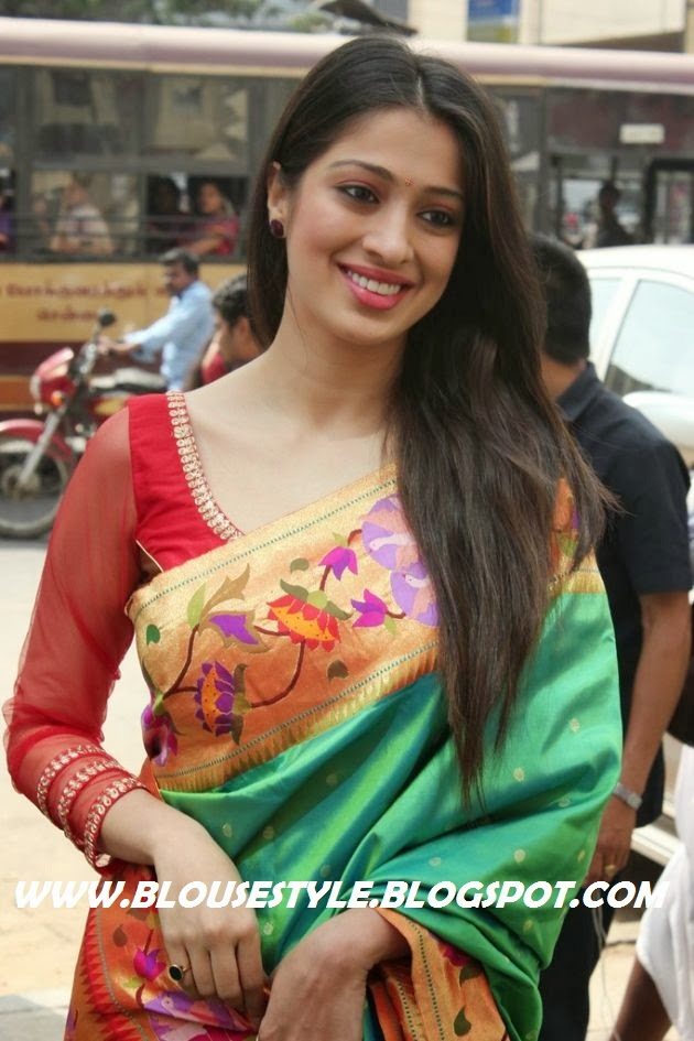 PATTU SAREE WITH  RED BLOUSE