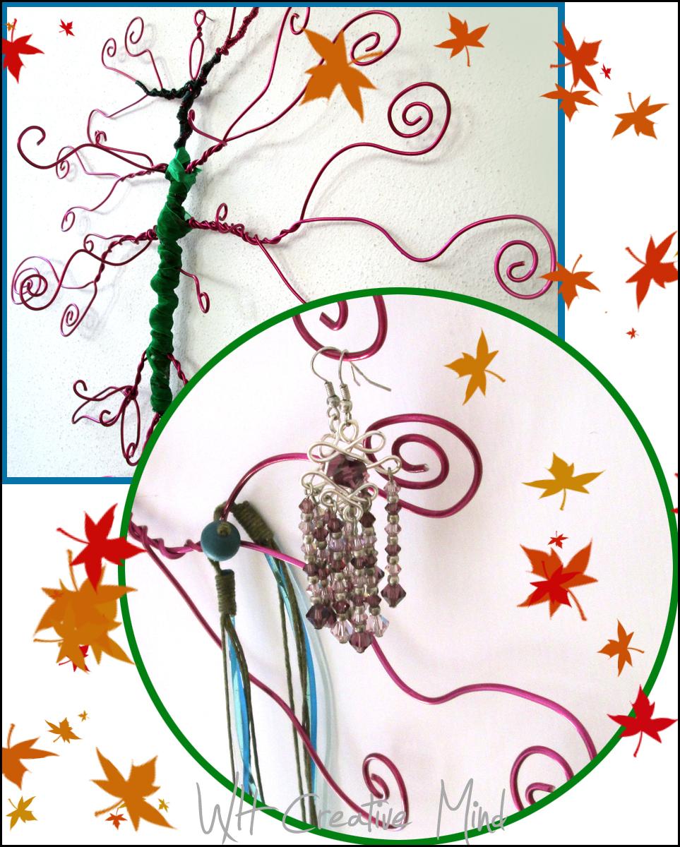 What happens in a creative mind espositori fai da te l 39 albero porta gioielli - Porta collane fai da te ...