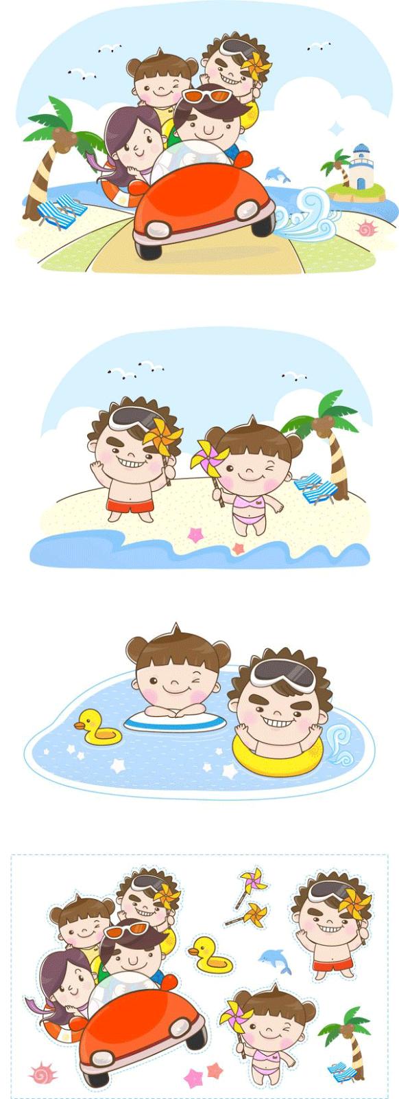 Recortables de verano