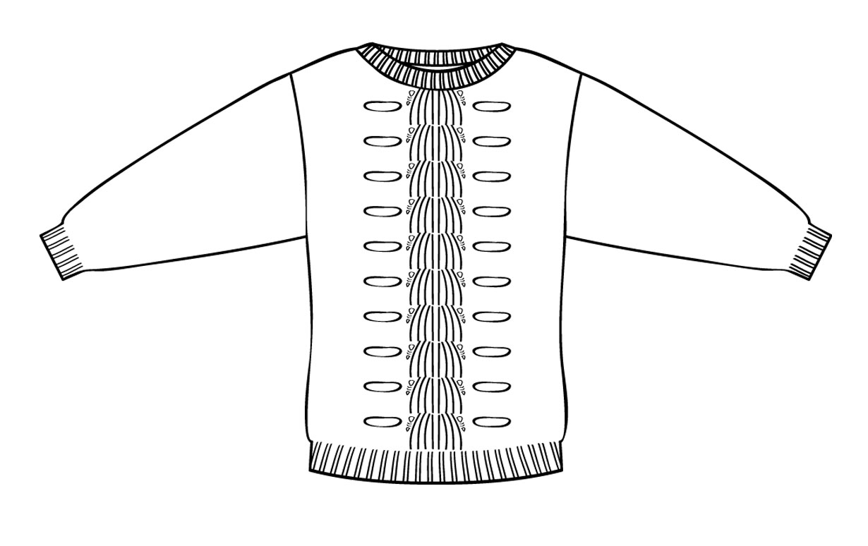 Free coloring pages of sweater