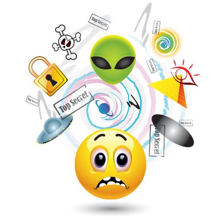 Conspiracy theorist emoticon