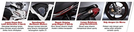 Desain Body All New Jupiter Z1