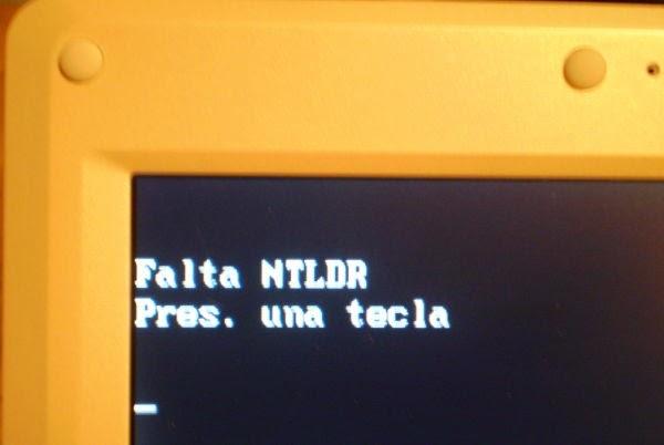 FALTA ARCHIVO NTLDR SOLUCIONADO