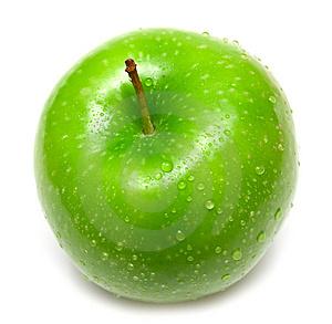 круглая картинка с яблоками