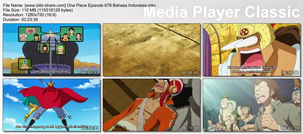 One Piece Episode 678 (Serangan Tinju Api! Kekuatan Buah Mera-Mera Telah Kembali!) Bahasa Indonesia
