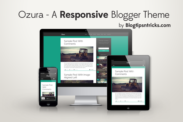 Ozura Responsive Blogger Theme Demo
