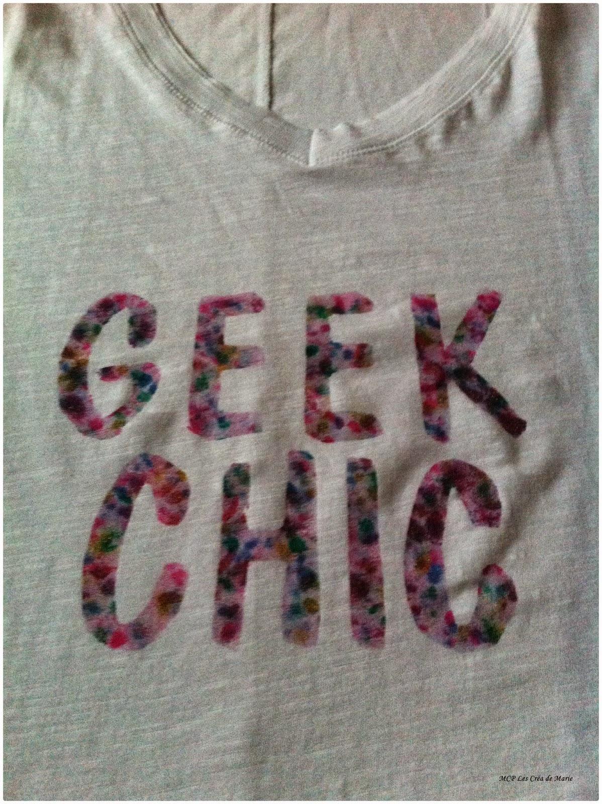 Mcp les cr a de marie diy le t shirt fleuri geek chic - Fleur commencant par t ...