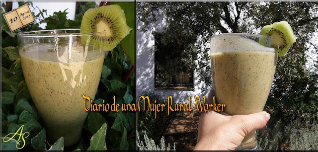 Jugos Verdes: Batido de kiwi