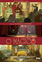 Capa do filme animado francês O mágico, de Sylvain Chomet