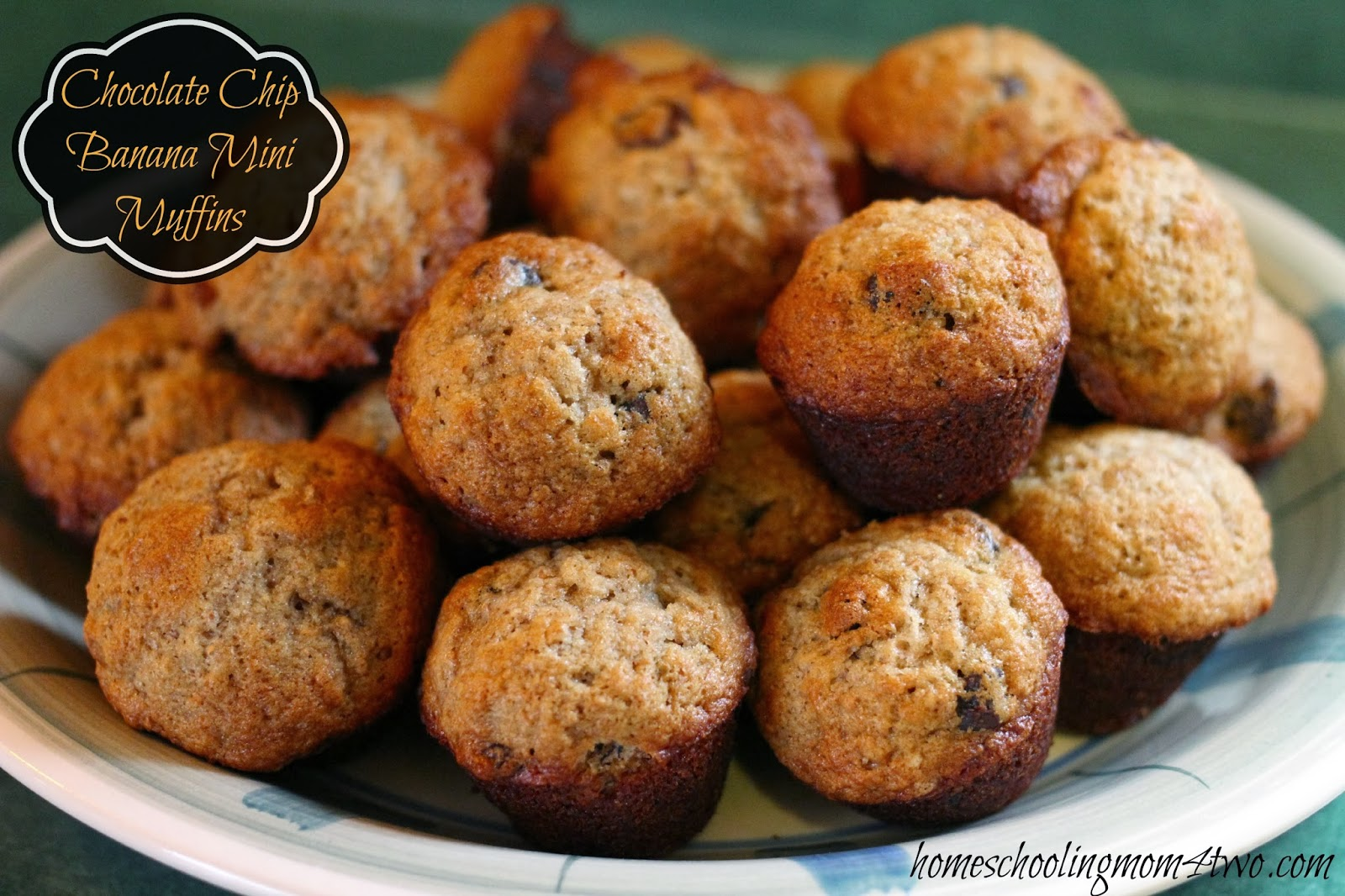 Chocolate Chip Banana Mini Muffins using Whole Wheat Flour & Coconut ...