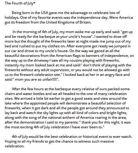 My favorite family tradition essay