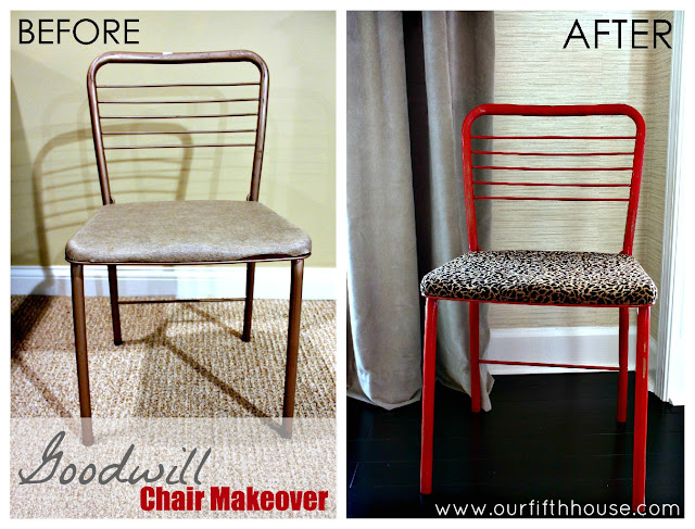 goodwill chair makeover
