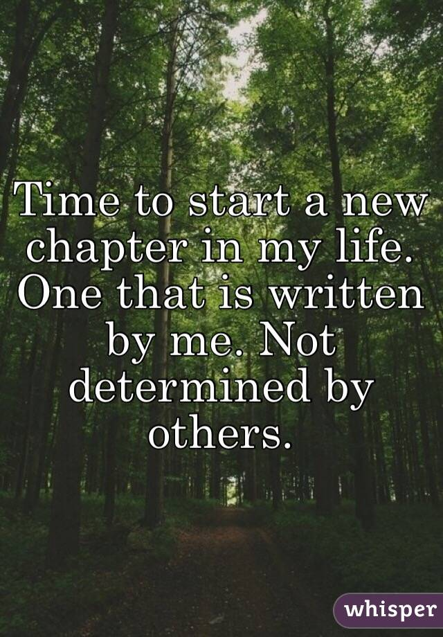 Starting a New Chapter