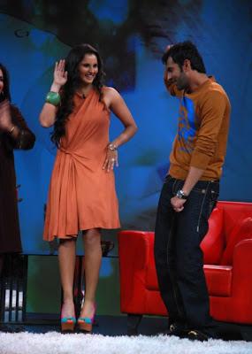 saniya mirza at ndtv tv program