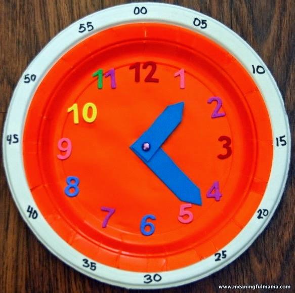 Escuela infantil castillo de blanca el tiempo el reloj - Manualidades relojes infantiles ...