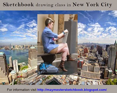 Sketchbook drawing class in NYC