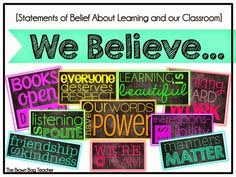 http://www.teacherspayteachers.com/Product/Classroom-Expectations-and-Belief-Subway-Art-We-Believe-825552