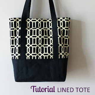 Lined Canvas Tote Tutorial | The Inspired Wren