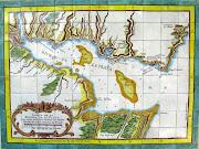 Antiguo Mapa del Río de la Plata. Mural de cerámica con motivo de un antiguo . mapa del rio de la plata de colonia