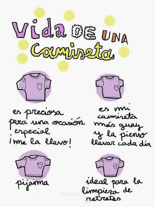 Las cuatro etapas de la vida de una camiseta